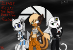 Three little Portal people by Call-Me-Jack