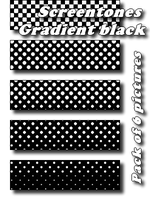 Screentones Black Gradient by bakenekogirl