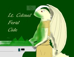 Lt. Colonel Feral Cide by dragonguilders