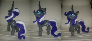 MLP FiM handmade 15-inch plush: Nightmare Rarity! by vulpinedesigns