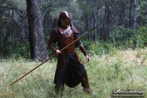 Aka armor : medieval fantasy leather set by AtelierFantastique