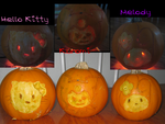 Hello Kitty Pumpkins by Tsarina-Nereid