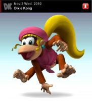 SSBB: Dixie Kong by TheFavs