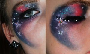 Space makeup by Jaqalynn