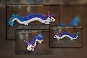 Frosty Sky Dragon by KirstenBerryCrafts