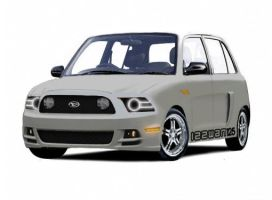 Perodua Kelisa with Ford Mustang GT front style by IZzwan125