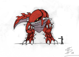 Groudon Speed form Concept by Esepibe