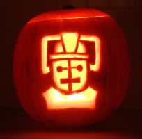 Cyberman Pumpkin by mikedaws