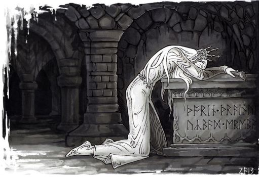 Elven grief by Candra