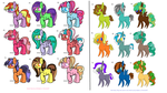 My Little pony adopts!!! Mares and Stallions! OPEN by DudeWheresMyLion