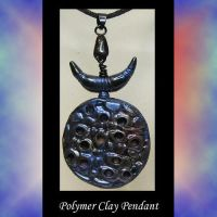 Polymer Clay Pendant by KabiDesigns