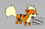 ~Growlithe Sketch Coloured~ by Xbox-DS-Gameboy