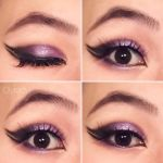 Purple makeup with double wing  by Ciyradyl