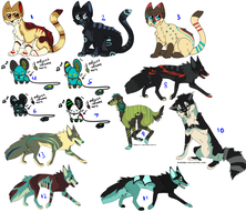 Bunch of point adopts STILL OPEN by MochaPupp