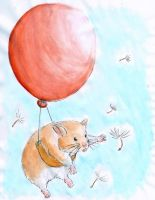 Hamster In The Breeze by SwallowCut