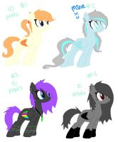 Point Pony Adopts CLOSED by Rainbow-ninja-adopts
