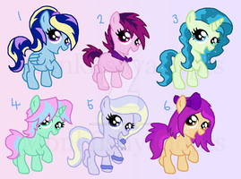 $1 Paypal Filly Adoptables - 4/6 Open by MonkFishyAdopts