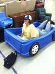 Ellis in a Car Bed by phantomlover369