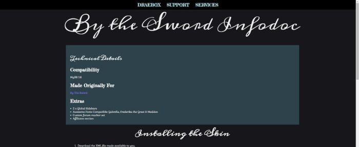 By the Sword Infodoc HTML5 by Draebox