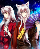 Inuyasha and Tomoe by Kay-I
