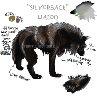 Reference Sheet: Silverback by DemonicSubstance
