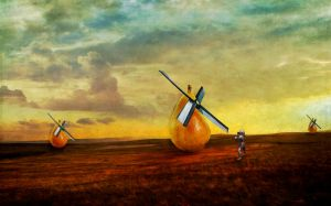 Jousting Windmills by PattiPix
