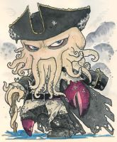 Chibi-Davy Jones. by hedbonstudios