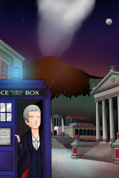 The Twelfth Doctor in Pompeii by ice-cream-skies