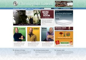 Christopher Lowell Web Design by juannoguerol