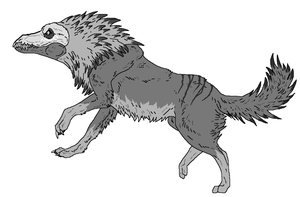 Dragovich Canine speices Lineart by WhiteWolfCrisis13