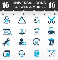 Free Outline Icon Set by lazunov