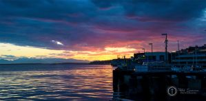 Sunset At Seattle Waterfront by SilentMobster42