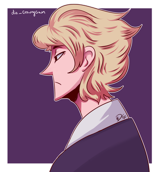 Guy with Fluffyy Blonde Hair by DiaCrown