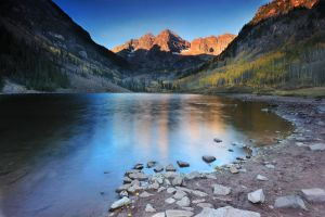 Good Morning Maroon Bells by porbital