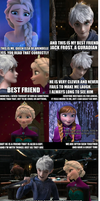 How Elsa met Jack Frost by InsaneHoneyBadger