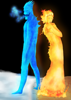 Demon Frostipher and Flamiona by Artzipants