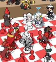 Team Saber VS Team Rider Fate/chess by rijinks