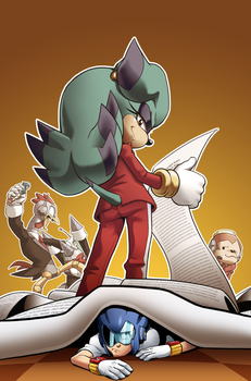 Sonic Man 14 Faux Cover by JoeAdok