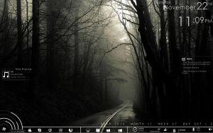 Foggy Road Rainmeter Skin by iZombehDoll
