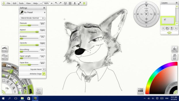 WIP: Nick Wilde by Solitude-Cried
