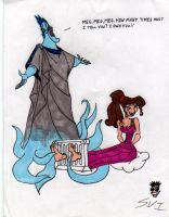RETROPOST: Hades and Megara by CheshireCaterling