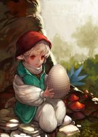 little boy and egg by mong1379