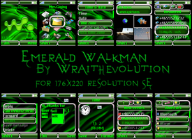 Emerald Walkman by wraithevolution