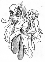 Fire Magi-Male and Female -Sketch by Rumilax