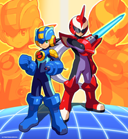 Team Protoman by ultimatemaverickx