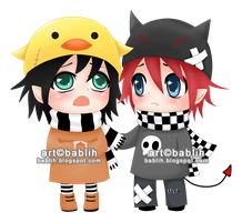 chibi couple by bablih