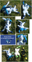 Mini Glaceon Plushie by racingwolf