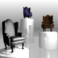 Queen Anne Wing Chairs by Abellia