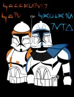 Commander Cody and Captain Rex by TheLastWorshipper