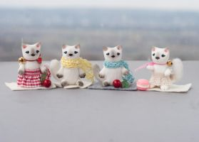 4 cats by freedragonfly